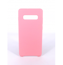 Coque Silicone Gomme Intérieur Façon Velours Samsung Galaxy S10 (G973F) - Rose Clair