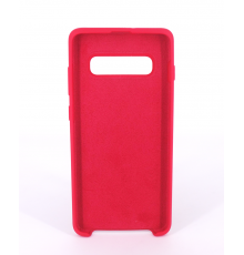 Coque Silicone Gomme Intérieur Façon Velours Samsung Galaxy S10 (G973F) - Framboise