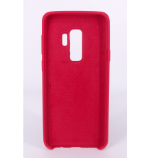 Coque Silicone Gomme Intérieur Façon Velours Samsung Galaxy S9 (G960F) - Framboise