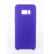 Coque Silicone Gomme Intérieur Façon Velours Samsung Galaxy S8 (G950F) - Violet Ultra