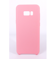 Coque Silicone Gomme Intérieur Façon Velours Samsung Galaxy S8 (G950F) - Rose Clair