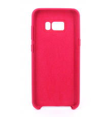 Coque Silicone Gomme Intérieur Façon Velours Samsung Galaxy S8 (G950F) - Framboise