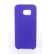 Coque Silicone Gomme Intérieur Façon Velours Samsung Galaxy S7 (G930F) - Violet Ultra