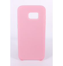 Coque Silicone Gomme Intérieur Façon Velours Samsung Galaxy S7 (G930F) - Rose Clair
