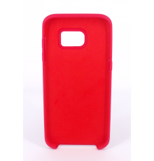 Coque Silicone Gomme Intérieur Façon Velours Samsung Galaxy S7 (G930F) - Framboise