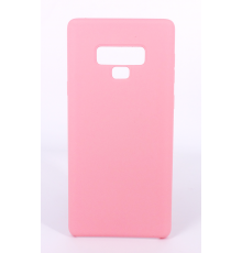Coque Silicone Gomme intérieur façon velours Samsung Galaxy Note 9 (N960F) - Rose Clair