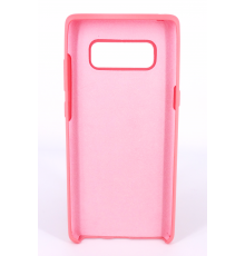Coque Silicone Gomme Intérieur Façon Velours Samsung Galaxy Note 8 (N950F) - Rose Saumon