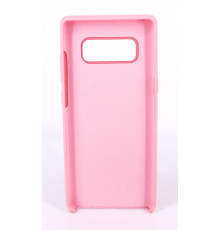 Coque Silicone Gomme Intérieur Façon Velours Samsung Galaxy Note 8 (N950F) - Rose Clair