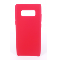 Coque Silicone Gomme Intérieur Façon Velours Samsung Galaxy Note 8 (N950F) - Framboise