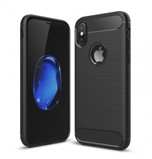 Coque en Fibre de Carbone iPhone X/XS - Noir
