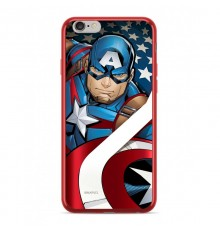 Coque Luxe iPhone 7/8 Marvel Capitain America - Rouge