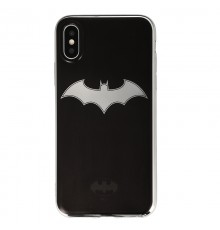 Coque Luxe iPhone X DC Comics BATMAN - Argent