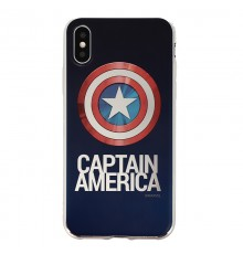 Coque Luxe iPhone X Marvel Capitain America - Argent