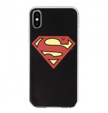 Coque Luxe iPhone X DC Comics SUPERMAN - Noir