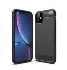 Coque en Fibre de Carbone iPhone 11 - Noir